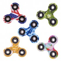 ABS Plastic Print Multicolored Tri Fidget Spinner